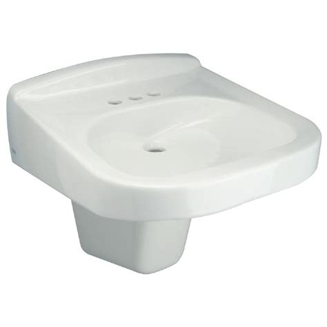 half pedestal bathroom sinks zurn wall hung bathroom sink with half pedestal in white