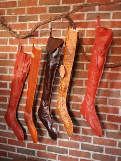 leather christmas stockings hgtv