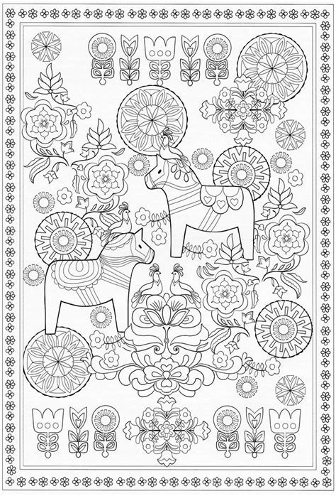 scandinavian coloring book pg  color pages stencils