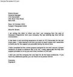 Weeks notice resignation letter sample templates