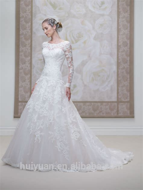 Brautkleider Chagner Spitze by Modest Sleeves Bridal Lace Bateau Neck Muslim Wedding