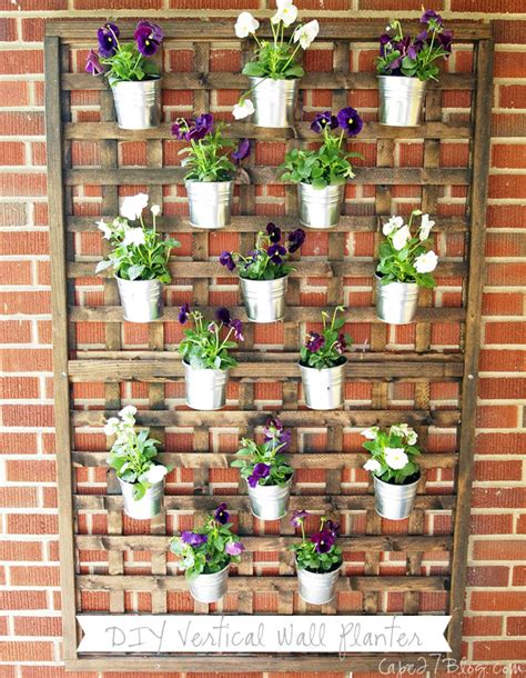 How To Make Wall Planters by Diy Vertical Wall Planter