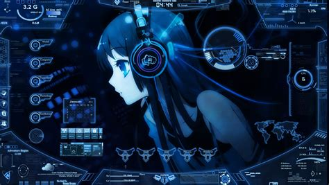 facebook themes skin anime anime sci fi rainmeter bluetropicsphere by yujinxin on