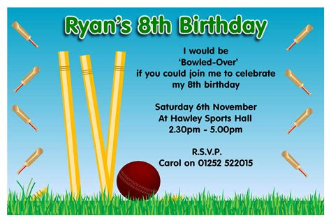 Invitation Letter Format For Cricket Match Collection Of Thousands Of Free Birthday Invitation From All The World