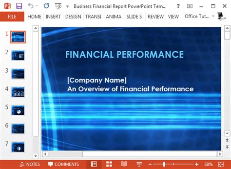 Free Business Financial Report Powerpoint Template Powerpoint Templates Financial Presentation