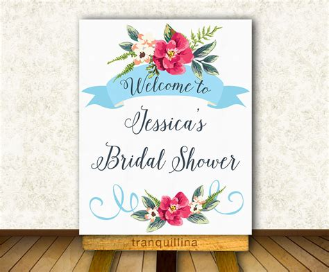 bridal shower welcome sign printable wedding welcome sign