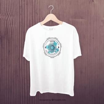 Kaos Distro White Black Pocket mockup camiseta vetores e fotos baixar gratis