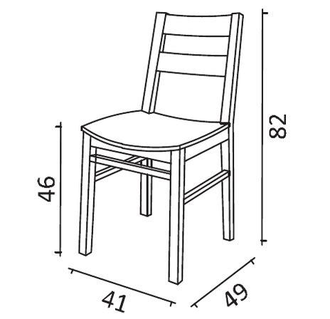 sedia misure sedia da cucina coralina in legno