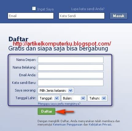 buat akun facebook indonesia cara daftar buat akun account di facebook indonesia