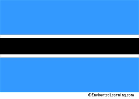 Wakai Black And Blue Flag botswana s flag enchantedlearning