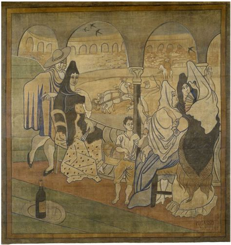 picasso curtain four seasons picasso s ballet curtain now on display wnyc
