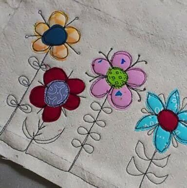 scribbly stitch  motion embroidery freehand machine embroidery sewing appliques