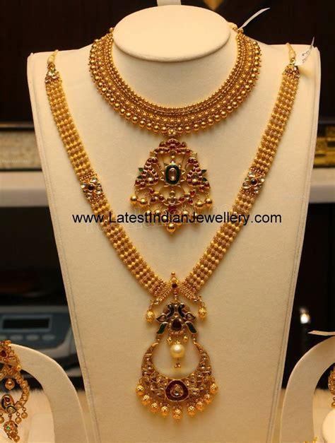 design jewellery antique gold haram necklace set jewellery pinterest