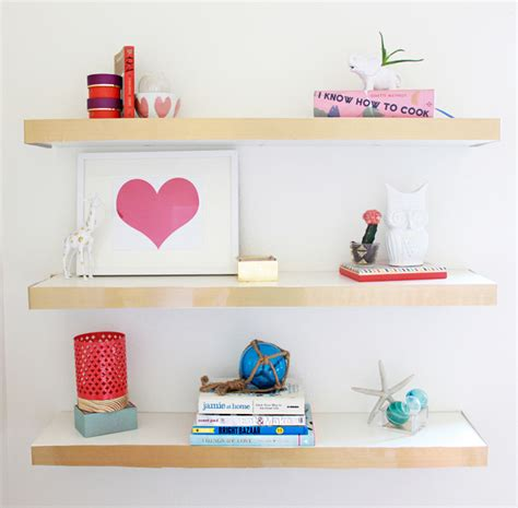 a bubbly diy ikea hack floating shelves color block