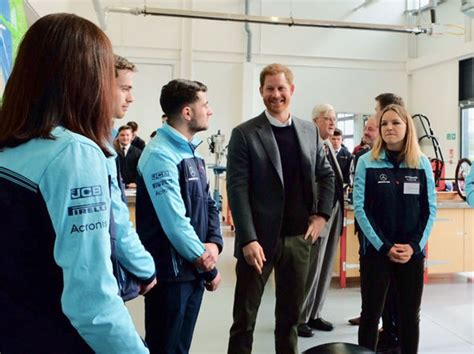 kensington palace twitter prince harry arrives at silverstone circuit racing track