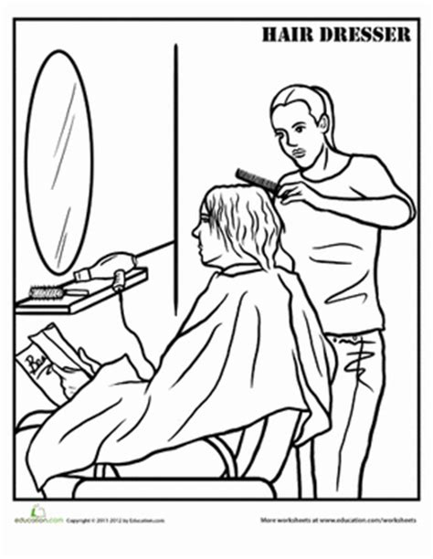 hairdresser coloring pages hairdresser coloring page education com