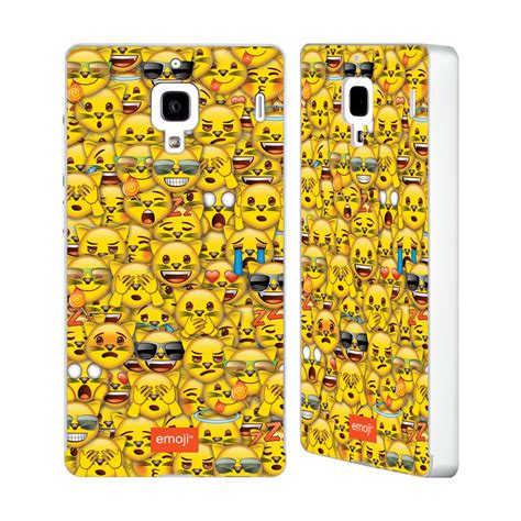 emoji xiaomi official emoji full patterns silver bumper slider case for