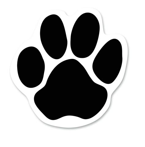 Dog Paw Print Outline Cliparts Co Paw Print Template