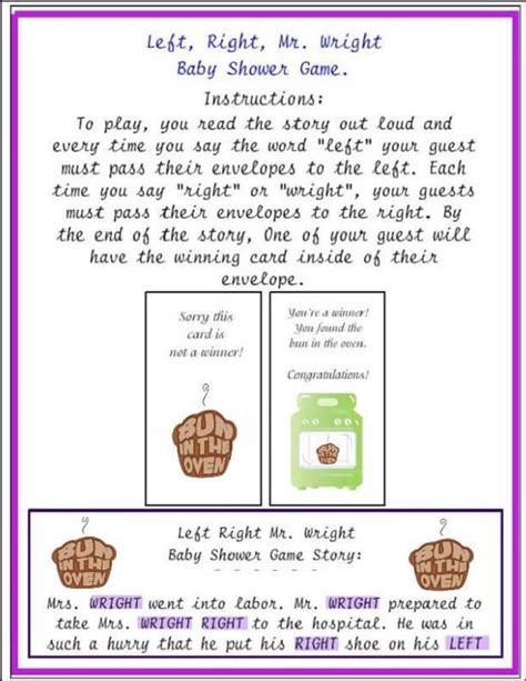 Right Left Baby Shower by Play Right Left Baby Shower Baby Shower Ideas