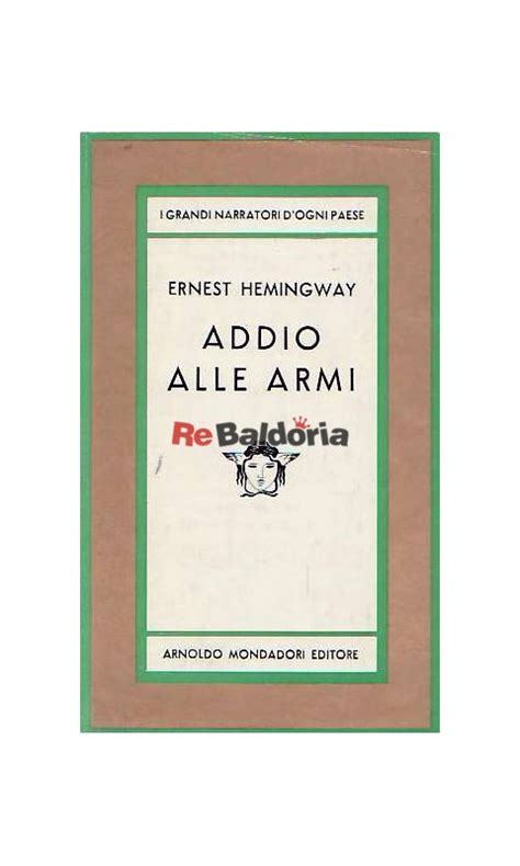 libro a farewell to arms addio alle armi a farewell to arms ernest hemingway mondadori libreria re baldoria