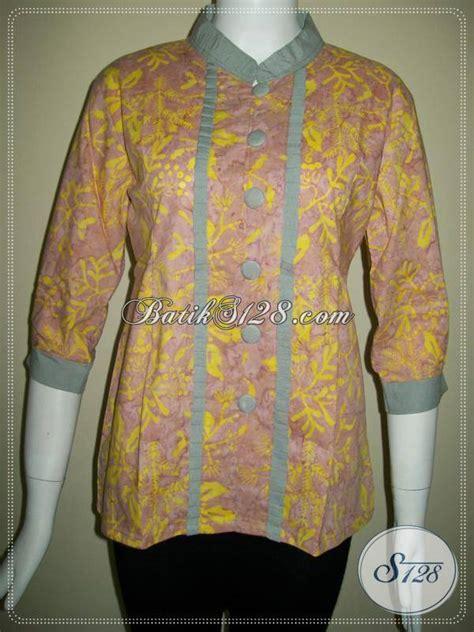 Ld Cap Smok Baju Batik Baju Batik Kantor blus batik cap asli baju batik karyawan bank