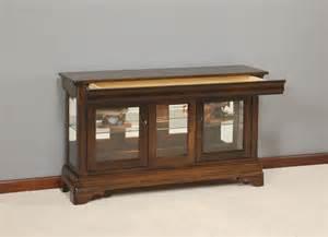 Curio Cabinet Console Amish Large Louis Philippe Console Curio Cabinet