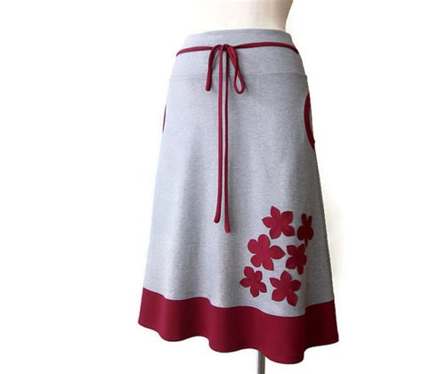 jersey a line skirt jersey skirt with pockets womens skirt
