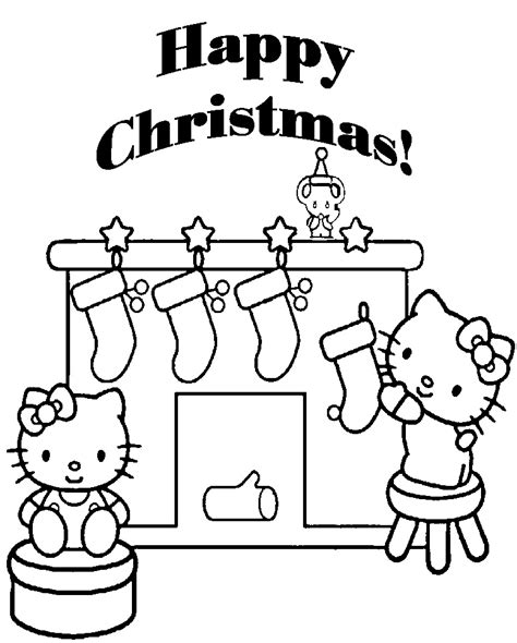 hello kitty merry christmas coloring pages merry christmas coloring pages