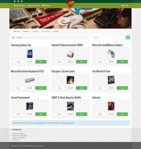 oscommerce responsive template choice image templates