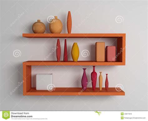 scaffali moderni mensole moderne illustrazione di stock immagine 43617616