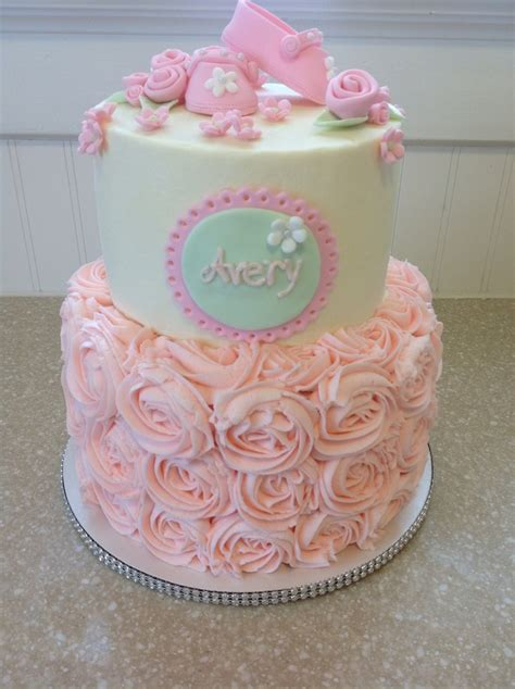 raspberry rose baby shower cake cakecentral com