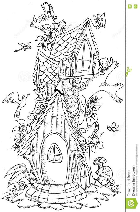 coloring page fairy house fairy on mushroom coloring coloring pages