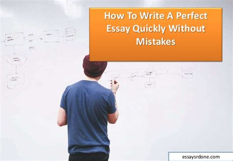 How To Write Essays Fast by How To Write A Essay Quickly Without Mistakes