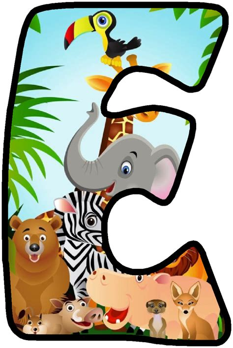 printable safari animal letters pin by rejane oliveira on abeced 225 rio infantil pinterest