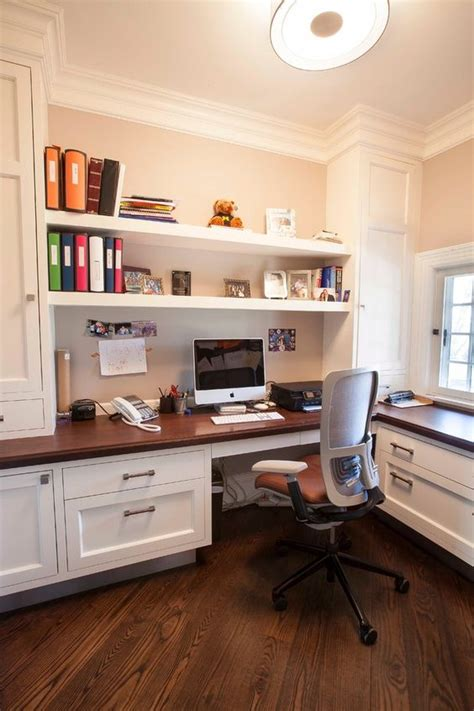 Built In Office Desk Ideas 29 Creative Home Office Wall Storage Ideas Shelterness