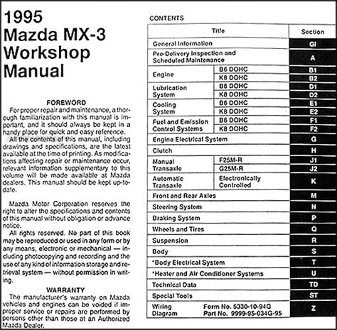 how to download repair manuals 1995 mazda miata mx 5 engine control 1995 mazda mx 3 repair shop manual original