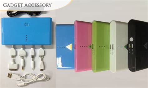 Powerbank Connector Cable 8 In 1 70 30 000mah portable usb battery charger 5 colours
