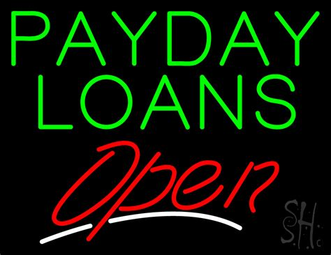 Greenlight Payday Loans by Green Payday Loans Open Neon Sign Pawn Neon Signs Neon Light