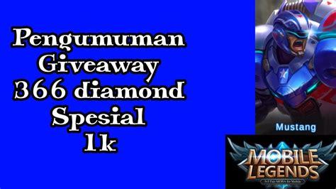 Mobile Legends 366 Diamonds pengumuman pemenang giveaway 366 mobile legend
