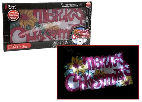 large window light led merry christmas sign battery