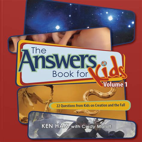 the answers book for the answers book for kids volume 1