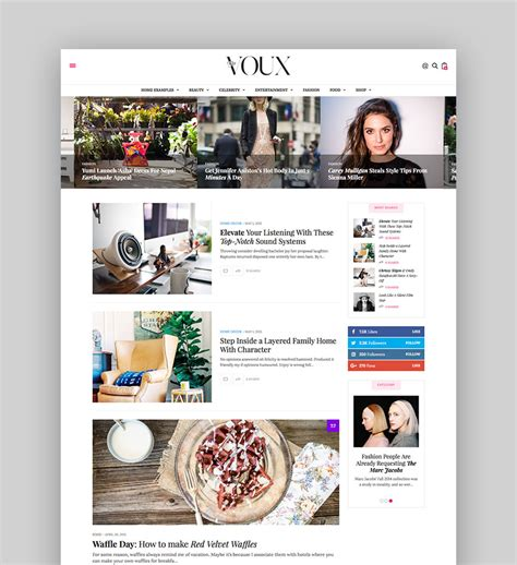 Best Wordpress Magazine Themes For Blog And News Websites Best Magazine Website Templates