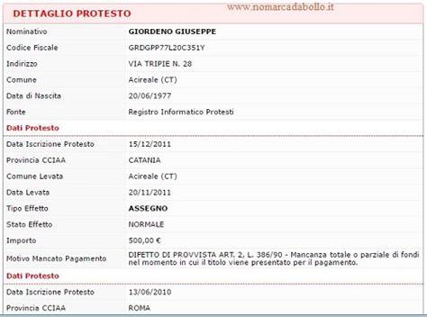 visura protesti di commercio la visura protesti nomarcadabollo it