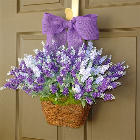 spring door wreath summer wreaths lavender purple wreath front door by aniamelisa