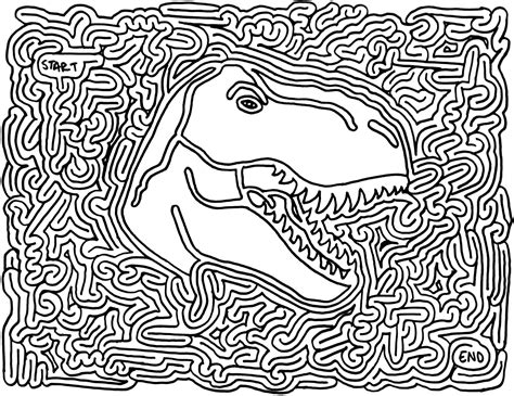 complicated coloring pages for adults andrew bernhardt s favors dinosaur printable maze parties dinosaurs