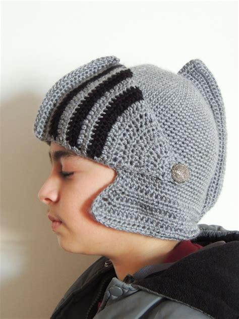 gorro tejido de soldado romano gorro medieval a crochet tejiendo de corazon