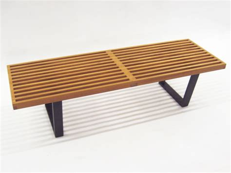 george nelson slat bench george nelson slat platform bench by herman miller mint