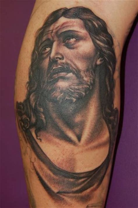 jesus tattoo on arm pics arm jesus tattoo by adam barton