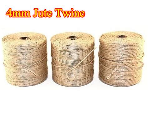 Paper Macrame - best rope 4mm x 25m 82ft jute twine cord for garden