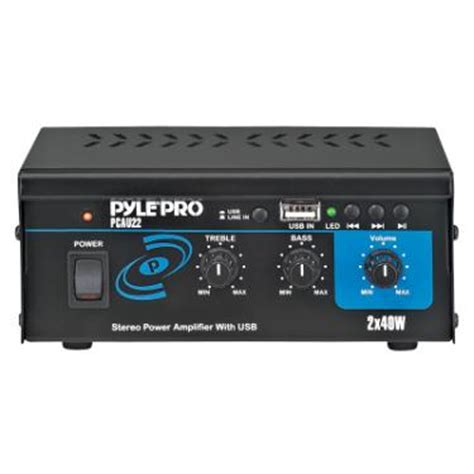 boat stereo won t power on pyle pcau22 mini 80w stereo power lifier with usb input